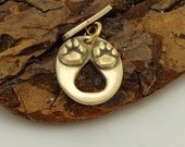 Paw Print Toggle - MTO