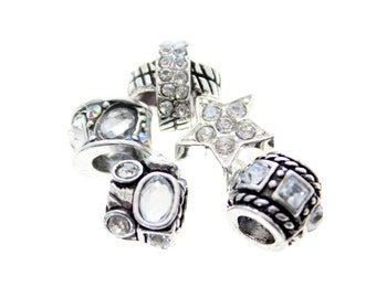 Large Hole Crystal Beads for Beadable Products
