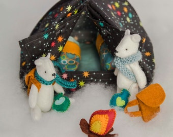 Chalky and Cotton Go Camping PDF Sewing Pattern