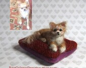 RESERVED for gloworm131 -- Special Order Custom Needle Felted Pet Dog Sculpture (91916)