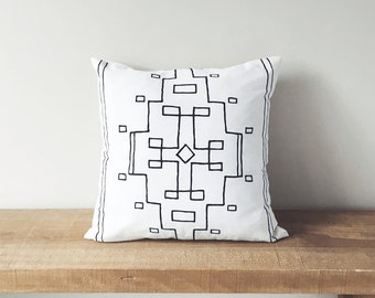"18"" Organic Cotton Pillow - Southwest Collection - NEVADA - housewares - decorative - interior designs - home staging - decor - home decor"