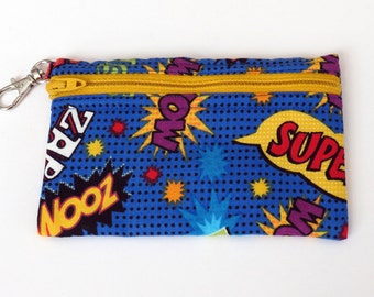 Super Hero  - Clip Coin Purse with Zipper Front