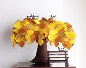 Yellow Weeping willow  Felt Tree Bench Decoration Children room Housewarming gift Nursery Decor