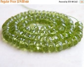 Mega SALE Peridot Gemstone Rondelle Green Exceptional Faceted 5mm 1/2 Strand 55 beads