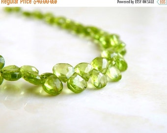 Mega SALE Peridot Briolette Gemstone Faceted Heart Bright Green 5mm 75 beads Full strand Wholesale