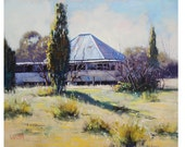 Farm House Oil Painting Listed Artist Graham Gercken
