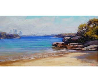 SYDNEY Beach Painting Original oil Seascape Impressionist Surf Wall Art