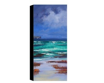 Balmoral Beach Oil Painting Original Seascape Impressionist Ocean Wall Art