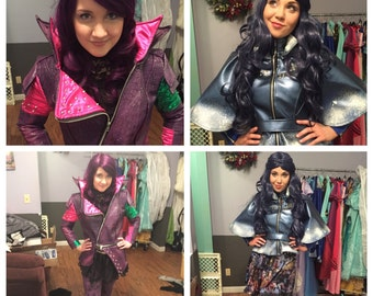 Disney Descendants Mal and Evie Jackets ONLY Custom made Adult faux leather costume package