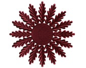 Dresdens Germany 2 Embossed Die Cut Burgundy Halos Medallions  DF 7223 BU