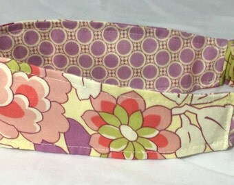 Fabric Headband Adult Womens Reversible Fabric Headband in Amy Butler Gypsy Caravan Print Ready to Ship