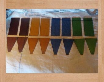 Stained Glass Panels Lot of 16 Colored Glass Panels Multi Colored