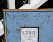 4 x 4 BLUE old vintage wood picture frame