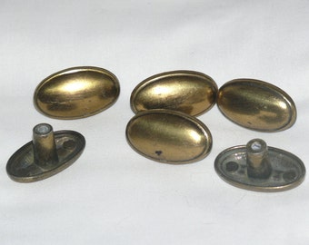 Brass Drawer or Cabinet Pull -Set of TEN.  Three sets available