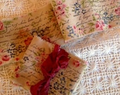 Romantic French Inspired - Grandmas Wallpaper Cotton Hand Stamped Ribbon  Trim  (0538)