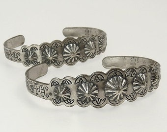 Pair Vintage Sancrest Southwestern Cuff Bracelet Sanford Co