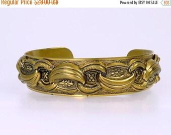 Vintage Victorian Revival Love Knot Cuff Bracelet