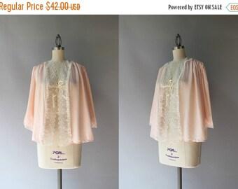 STOREWIDE SALE 1940s Bed Jacket / Vintage 40s Pale Pink Lingerie / 1940s Smocked and Scalloped Bed Jacket