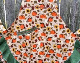 Flouncy Fall Pumpkin APRON