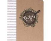 Letterpress Herb Skillet Recipe Binder