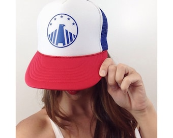 Eagle, Trucker Hat, Snapback, Adult Cap, Red White and Blue, Merica, Patriotic, Summer Hat, America, Fourth of July, Women's Trucker Hat