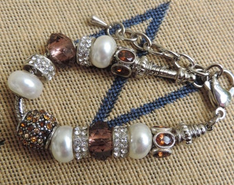 European Large Hole Beaded Bracelet