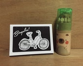 Bicycles! Mini Coloring Book with Coloring Set