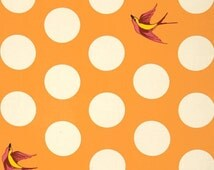 "1 FQ, 1/2 Yard, 1 Yard  Tula Pink Free Fall 108"" Wide Quilt Back Creamsicle Color  Quilting Cotton"