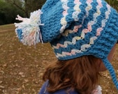 Adult Size Pom Pom Crochet Slouch Hat Warm Winter Hat Handmade Crocheted Ready To Ship
