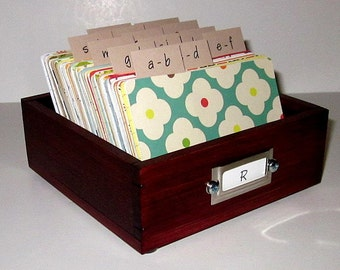 Address Card File...Medium...Rolodex...Wedding Guest Book Alternative Address Cards...Organizer...Business Card