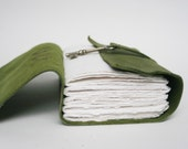 Green Leather Travel Journal / Daily Writer