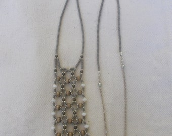Grey Cage Necklace