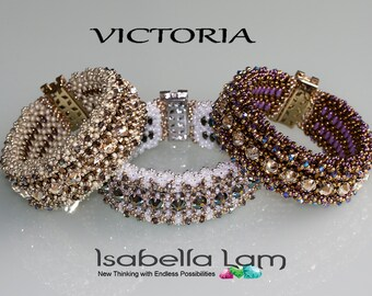 VICTORIA Swarovski Rose Montee and MiniDuo Bracelet tutorial Pdf for personal use only