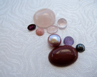 Mostly Pink Set of 9 Stones