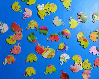 Itty Bitty Multi Colored Elephants Die Cuts