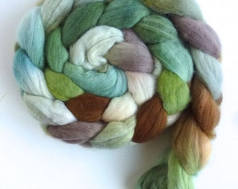 Merino Wool Roving Superfine - Hand Dyed Spinning or Felting Fiber, Mown Fields