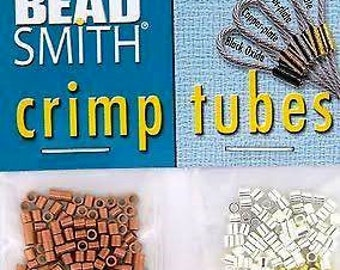 4 Colors BEADSMITH Assorted Crimp Tube Beads 2mm x 2mm  * Silver * Gold * Copper * Oxidized Gunmetal * Findings Mix (500)