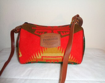 Pendleton USA Indian blanket dopp bag purse satchel vintage  awesome