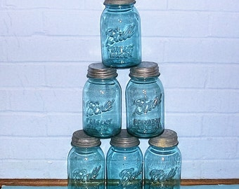 Vintage Ball Jar Vintage Canning Jar With Zinc Lid Antique Vintage Ball Perfect Mason Jar Quart Size