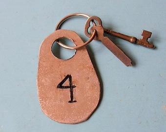 Vintage Numbered Tag With Antique Vintage Skeleton Key DIY Jewelry Steampunk Jewelry
