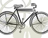 Bicycle Digital Vintage Bike Image Transfer Download Illustration Printable Graphic Clip Art 103