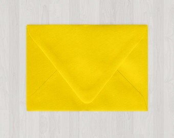 10 A2 Envelopes - Euro Flap - Yellow - DIY Invitations and Response Cards - Envelopes for Weddings and Other Events