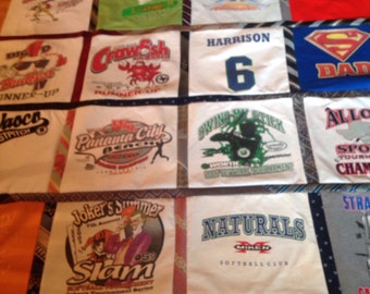 16 tshirt quilt with dress ties
