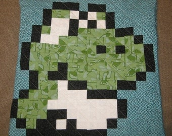 Baby Yoshi Quilted Pillow Cover - Free USA Shipping