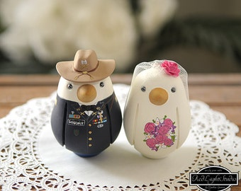 Military Wedding Cake Topper - Medium Love Birds