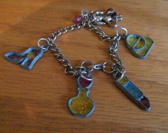 stain glass charm bracelet