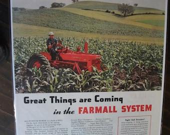 FARM 121  Farmall Tractor Ad   -  May, 1947