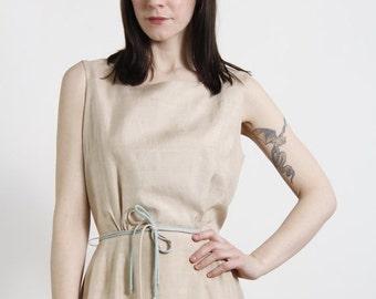 ON SALE Beige Linen Dress