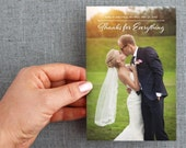"50+ Thank you Postcards, modern, elegant, with photograph ""Emelia Style"""