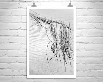 Desert Photographs, Vertical Print, Black and White, Fine Art Photography, Minimalist Art, Nature Photography, Abstract Art, Sand Dunes